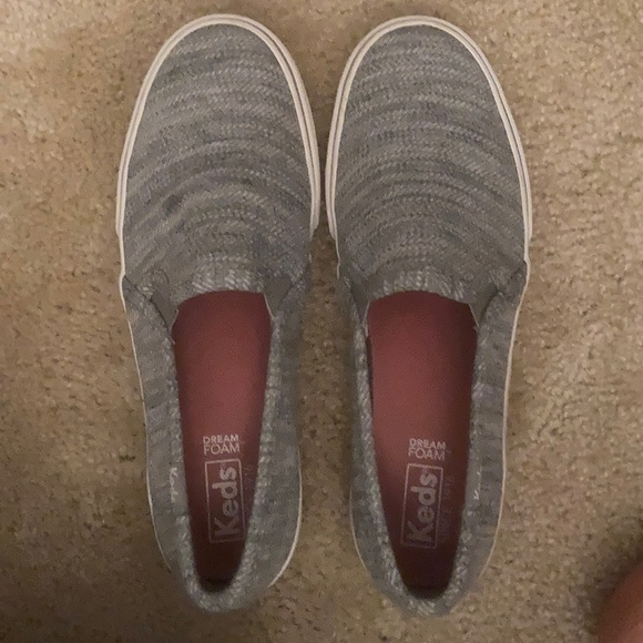 Keds slip on gray shoes